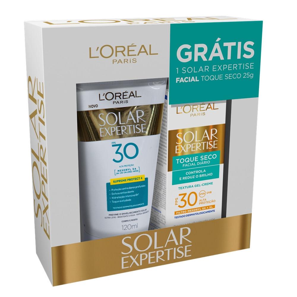 Protetor Solar Loreal Expertise FPS 30 120ml Grátis Toque Seco FPS ... c470b93a0b