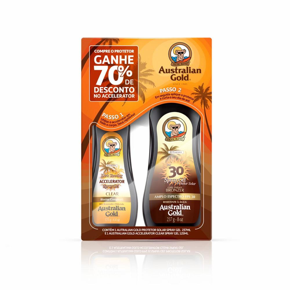 4971d0ac4 Combo Protetor Solar Corporal Australian Gold Spray Gel Instant ...