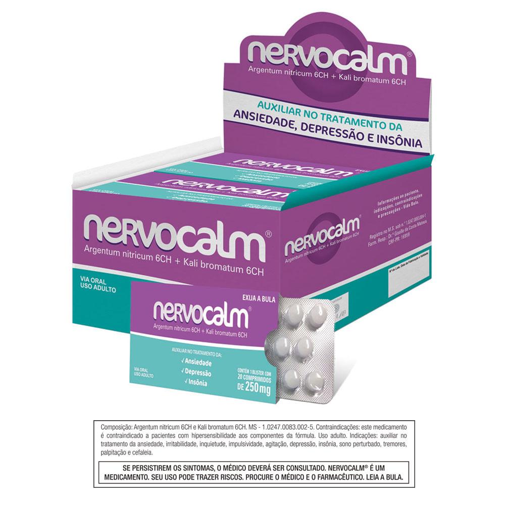 b9a658ebb Nervocalm Nervocalm 250mg 20 comprimidos - drogariavenancio