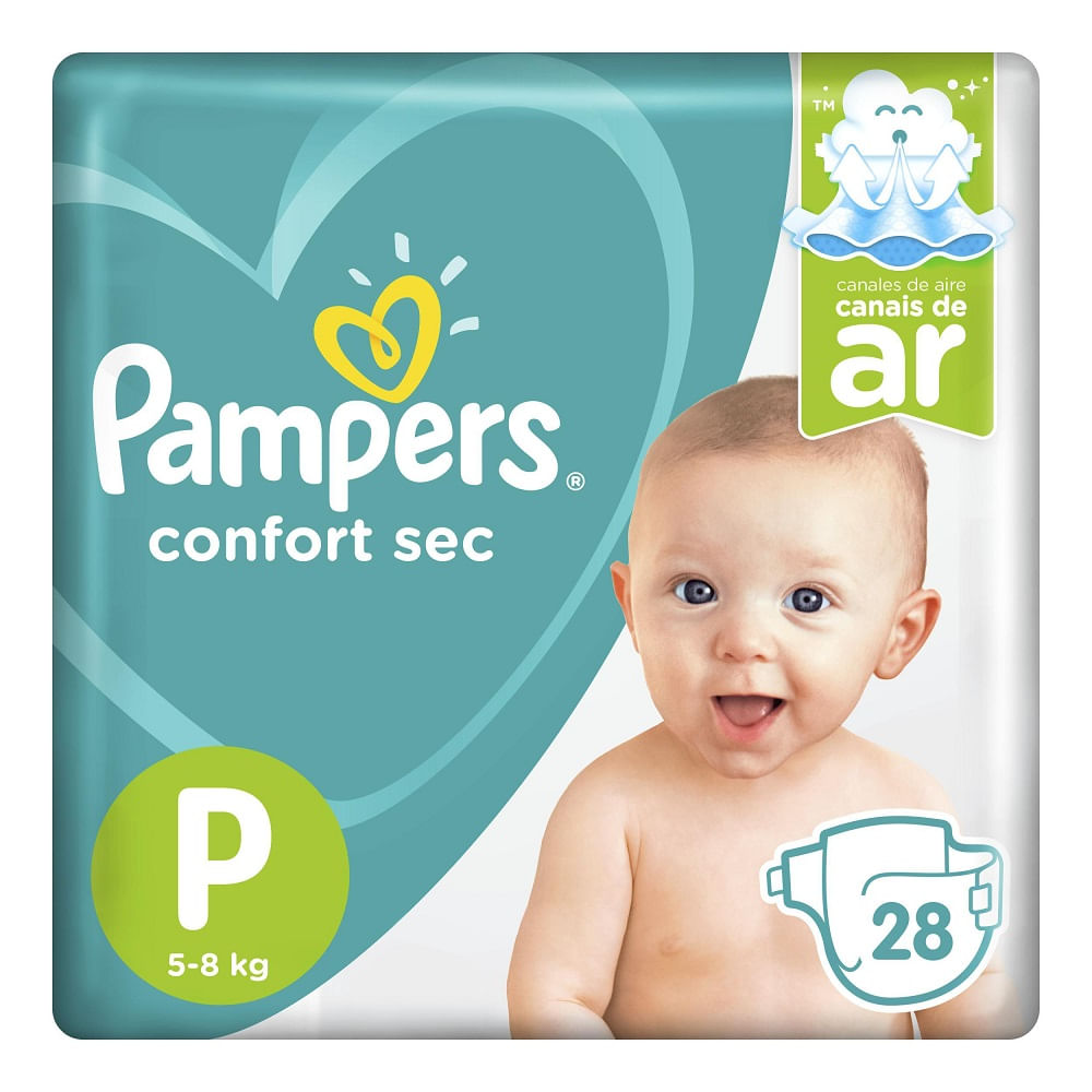 8cd587d29 Fralda Pampers Confort Sec P 28 Unidades - drogariavenancio