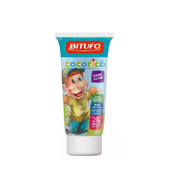 acbaf72a6 Gel Dental Bitufo Cocoricó Com Flúor Sabor Tutti-frutti 90g