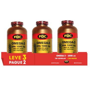 1cbe23f17 Omega-3 Epa 1000mg Leve 3 Pague 2 Com 360 Cápsulas Cada Fdc ...