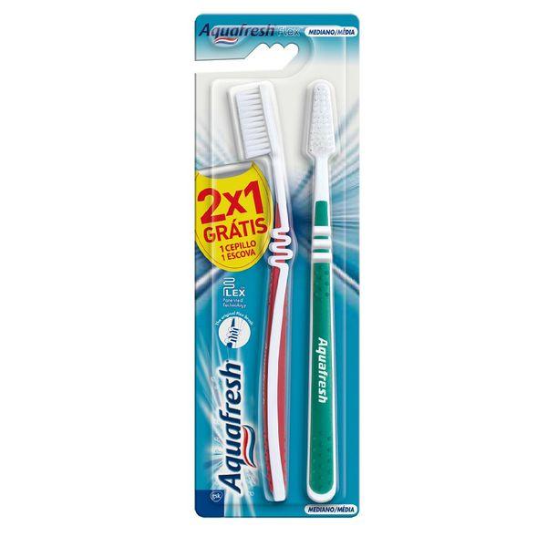 f6d4789b5 Kit Escova de Dente Aquafresh Flex Média Grátis 1 Escova