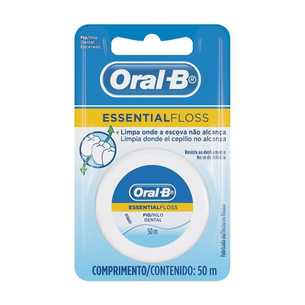 f5162464c Fio dental Oral-B Essential floss cera 50m