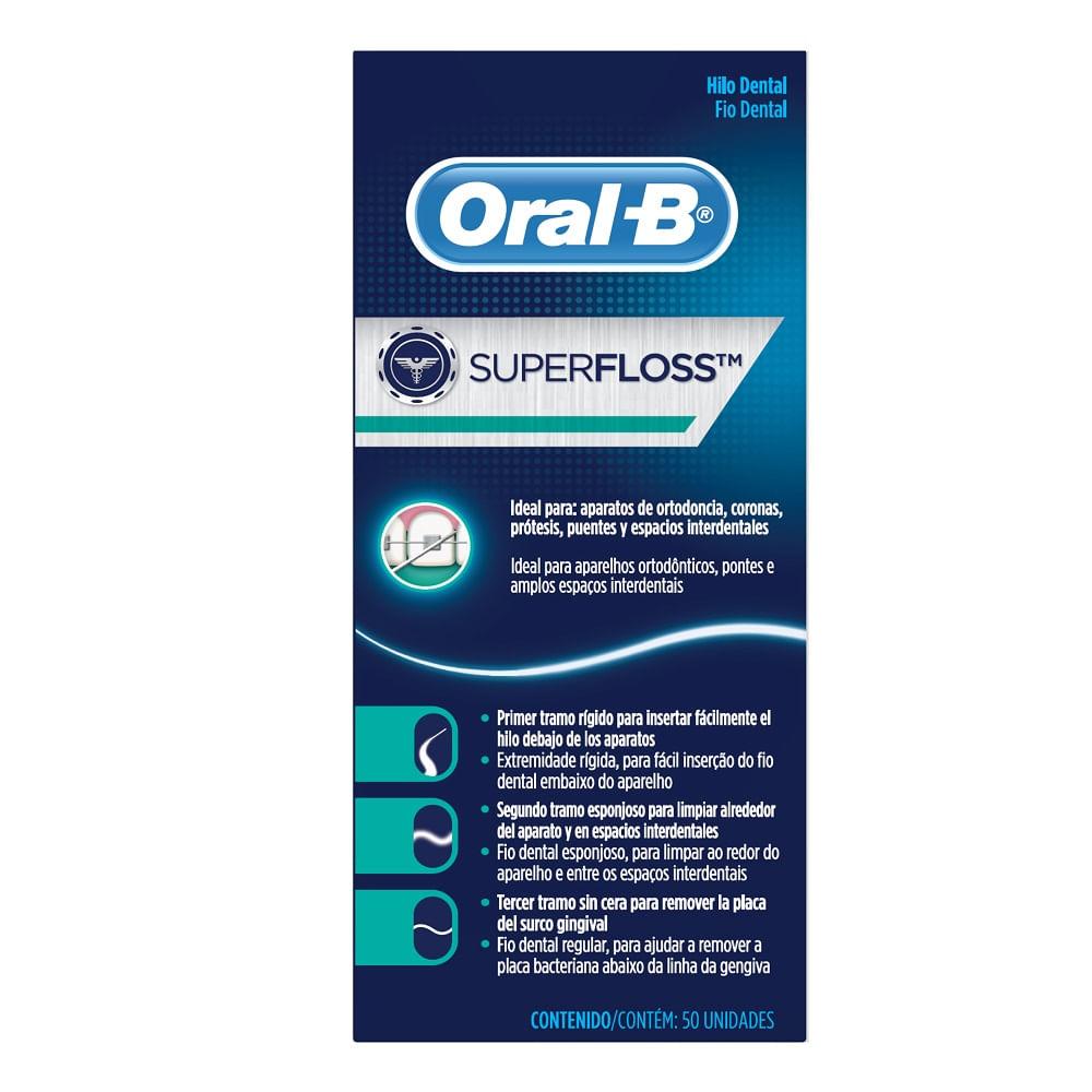 9b63ee078 Fio dental Oral-B Super floss 50m - drogariavenancio