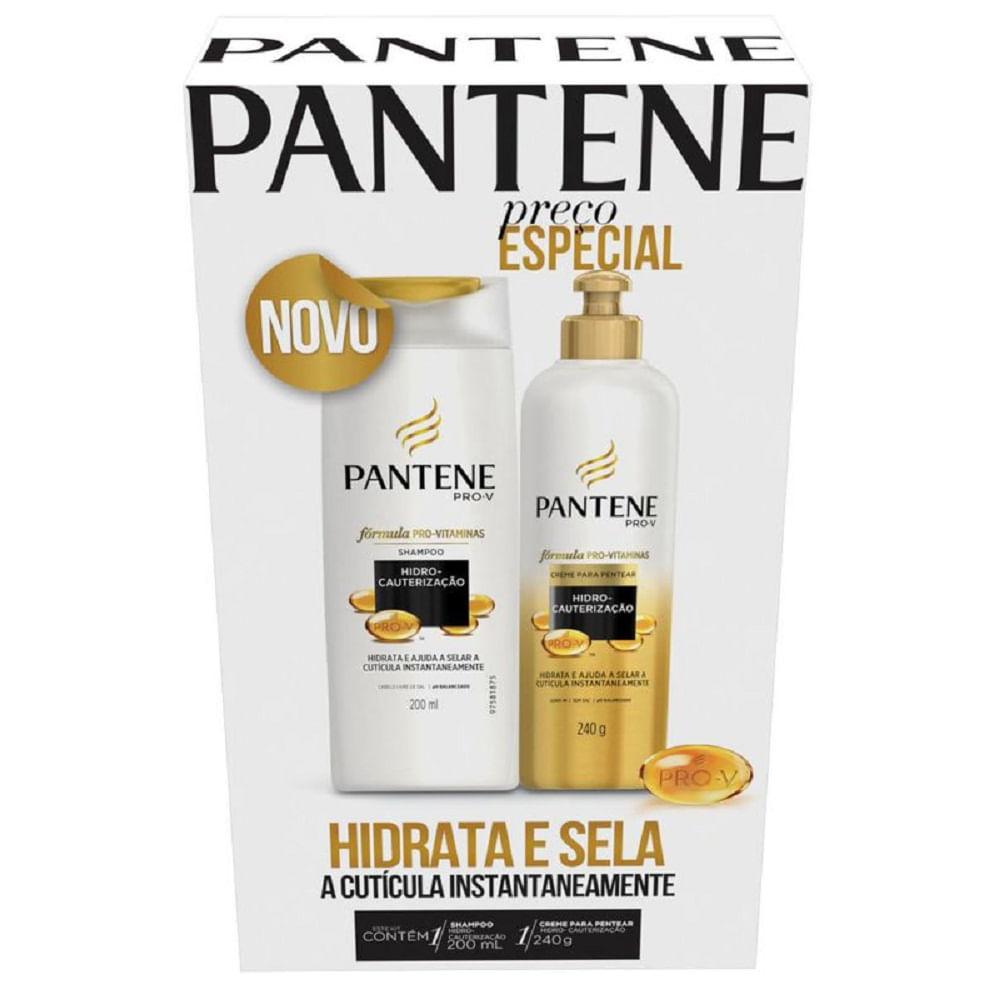 d3e351d17 Kit Shampoo Pantene Hidro-cauterização 200ml + Creme para Pentear ...