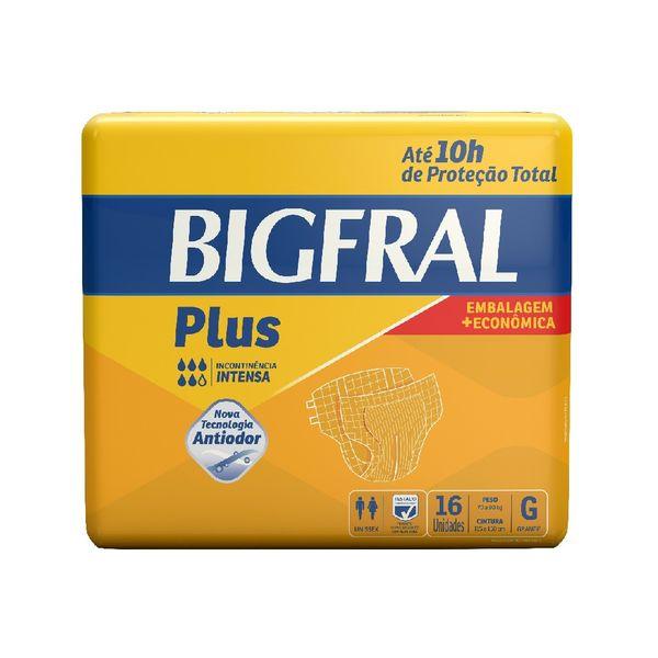 bff9bb895 Fralda Geriátrica Plus Tamanho G Bigfral 16 Tiras