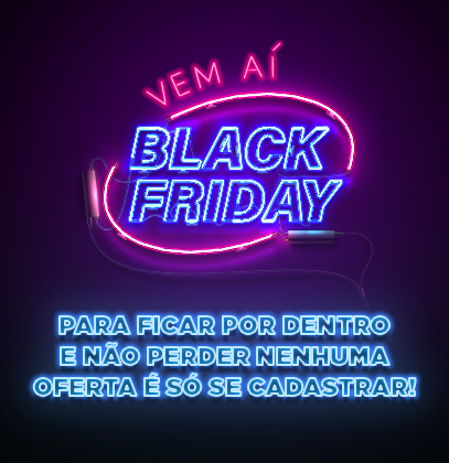 Pop up Newsletter Vem aí Black friday