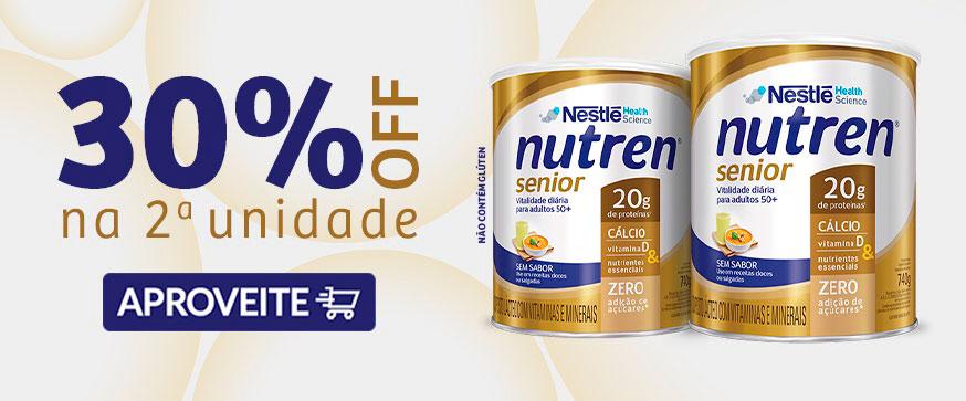 banner topo home desktop Nutren senior 30 off na segunda unid janeiro