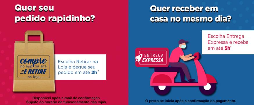 Banner Home Desktop Compre e Retire + Entrega Expressa Institucional